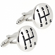 5-Speed Car Gear Shift Cufflinks