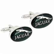 Green Jaguar Logo Automotive Car Cufflinks