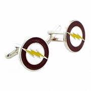 Officially Licensed Yellow the Flash Lighting Bolt Cufflinks
