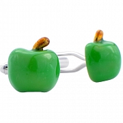 Green Apple Cufflinks Fruit Cuff Links