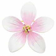 White Hawaiian Plumeria Pin Swarovski Crystal Flower Pin Brooch and Pendant(Chain Not Included)