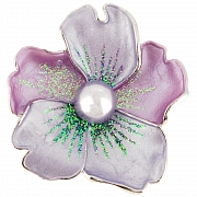 Light Purple Flower Pin Brooch And Pendant(Chain Not Included)