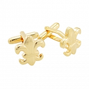 Fleur-De-Lis Sign Cufflinks Golden Cuff Links