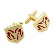 Gold Dodge Ram Truck Logo Cufflinks Automotive Car Cuff Links