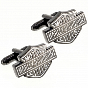 Black Harley Davidson Motor Cycles Logo Cufflinks