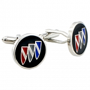 Silver Buick Logo Cufflinks Automotive Car Cuff Links