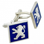 Silver Peugeot Logo Cufflinks Automotive Car Cuff Links