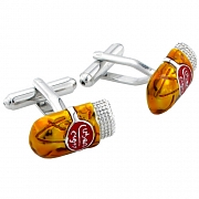 Cigar Cufflinks Yellow Cuff Links