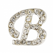 Letter B Tag Pin Austrian Crystal Brooch Pin